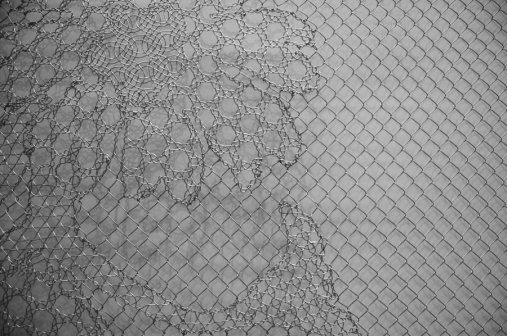 Inspired by the beautiful transformation of chain link fencing by Joep and Jeroen Verhoeven.